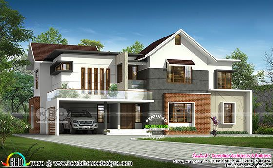 4 bedroom mixed roof 3400 square feet home