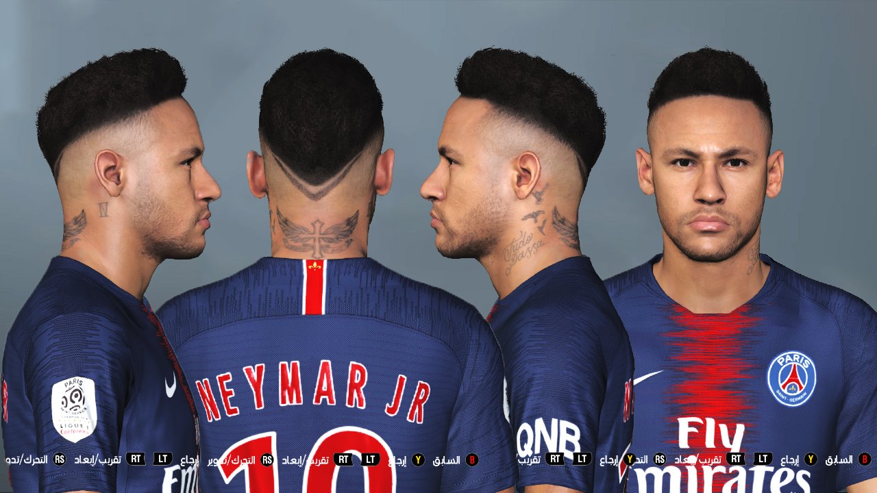 Ultigamerz: PES 2017 Neymar Face Converted From PES 2019