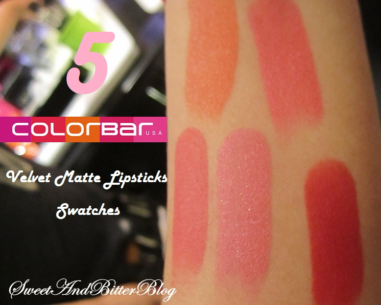 5 New Shades Swatches Of Colobar Velvet Matte Lipsticks Where To Buy Sweet And Bitter Blog