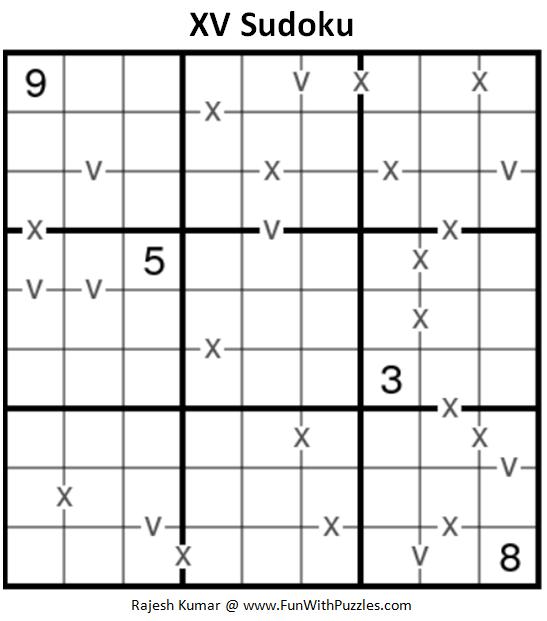 XV Sudoku (Fun With Sudoku #183)