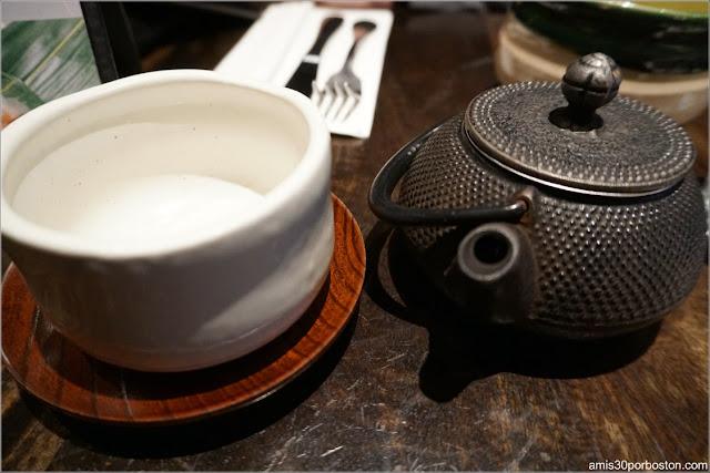 Hojicha en Cha-An Teahouse, Nueva York