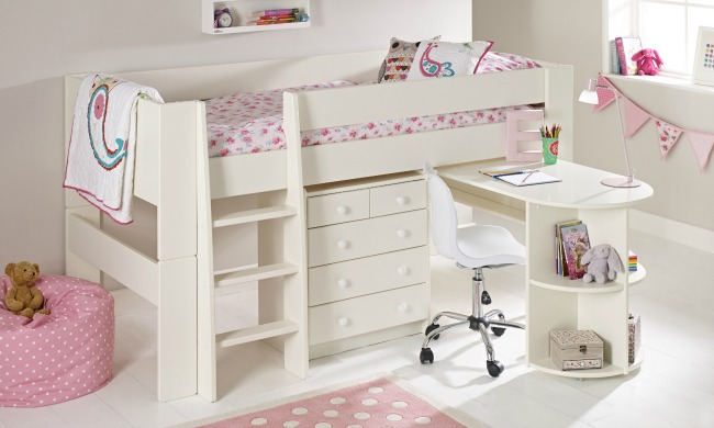 Save-Money-&-Space-with-These-Great-Space-Saving-Kids-Beds-room-to-grow-solitaire-white-midsleeper-with-pull-out-desk-and-chair