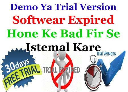 reinstall lifetime free use demo trial version softwear
