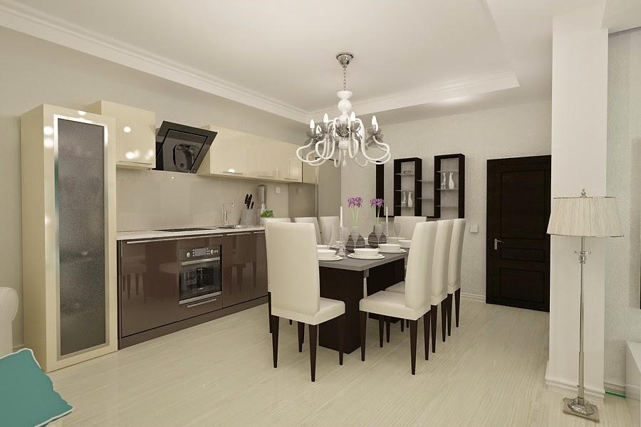 Design interior - living - cu - bucatarie  - casa - moderna - Bucuresti