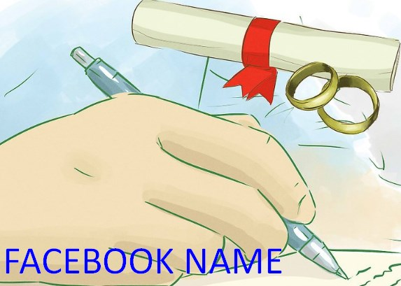 how to change name on facebook after marriage