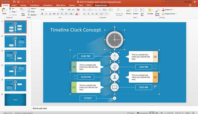 SlideModel Timeline Concept