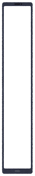 スマートフォン型の座布団(黒・縦長1)