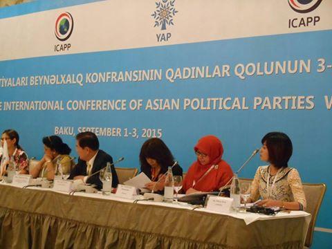Perempuan PKS Dorong Pengentasan Kemiskinan di Forum Internasional ICAPP Azerbaijan