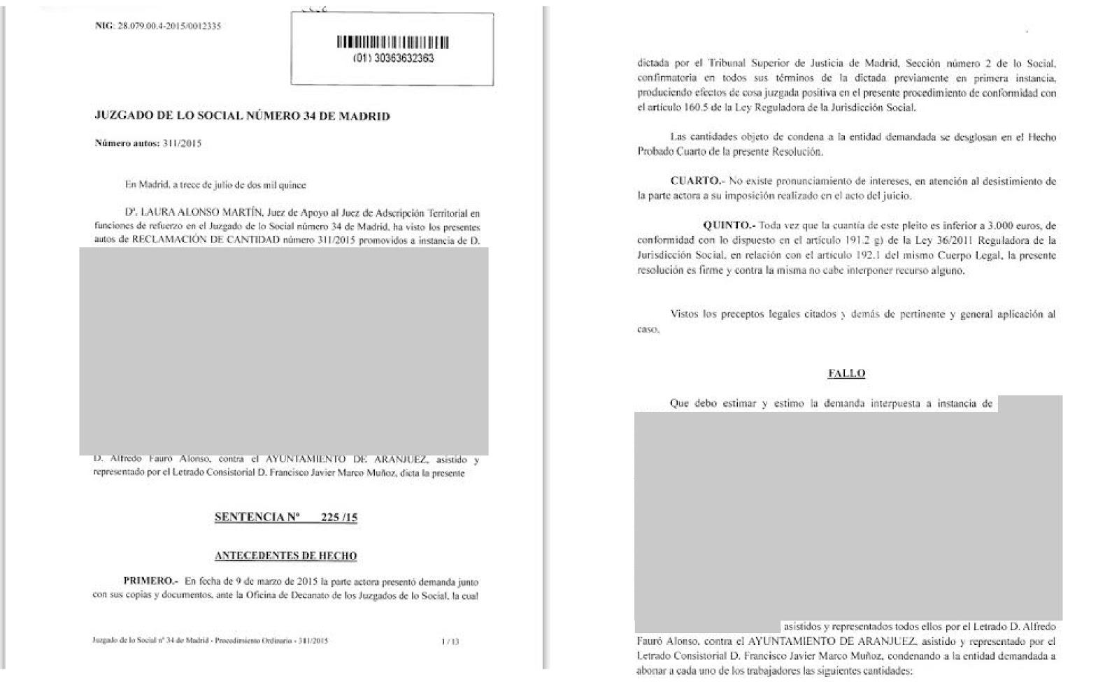 Heraldo de aranjuez el ayuntamiento de aranjuez condenado for Juzgados de aranjuez
