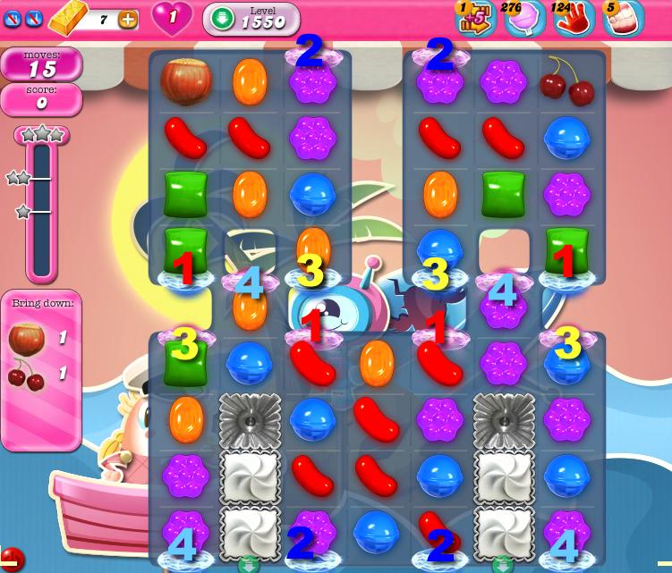 Candy Crush Saga 1550