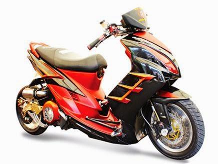 Foto , Gambar Dan Cara Modifikasi Motor Mio Sporty Sederhana