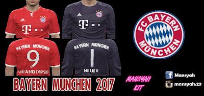 PES 2016 Bayern Munchen 2017 Kits by Mansyah
