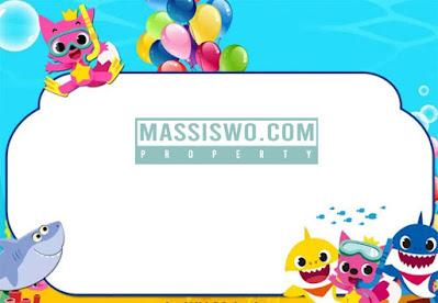 undangan ulang tahun dengan tema baby sark