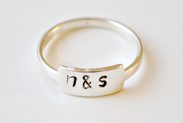 How to stamp on a ring by Amy Latta of One Artsy Mama