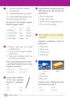5. Sınıf Fen Bilimleri Ders Kitabı Cevapları Ada Sayfa 62