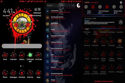 Guns N' Roses Samsung Theme Android Oreo & Nougat