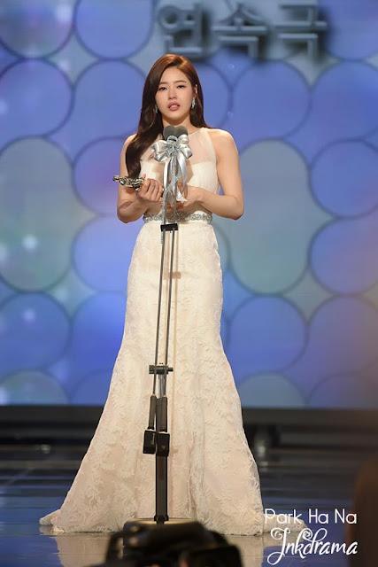 "Best New Actress (Drama) ("" Apgujeong Midnight Sun "")  Park Ha Na"