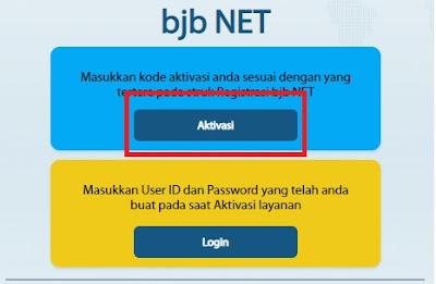 Cara aktivasi internet banking bjb
