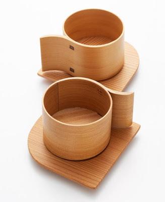 Taza de madera diseño