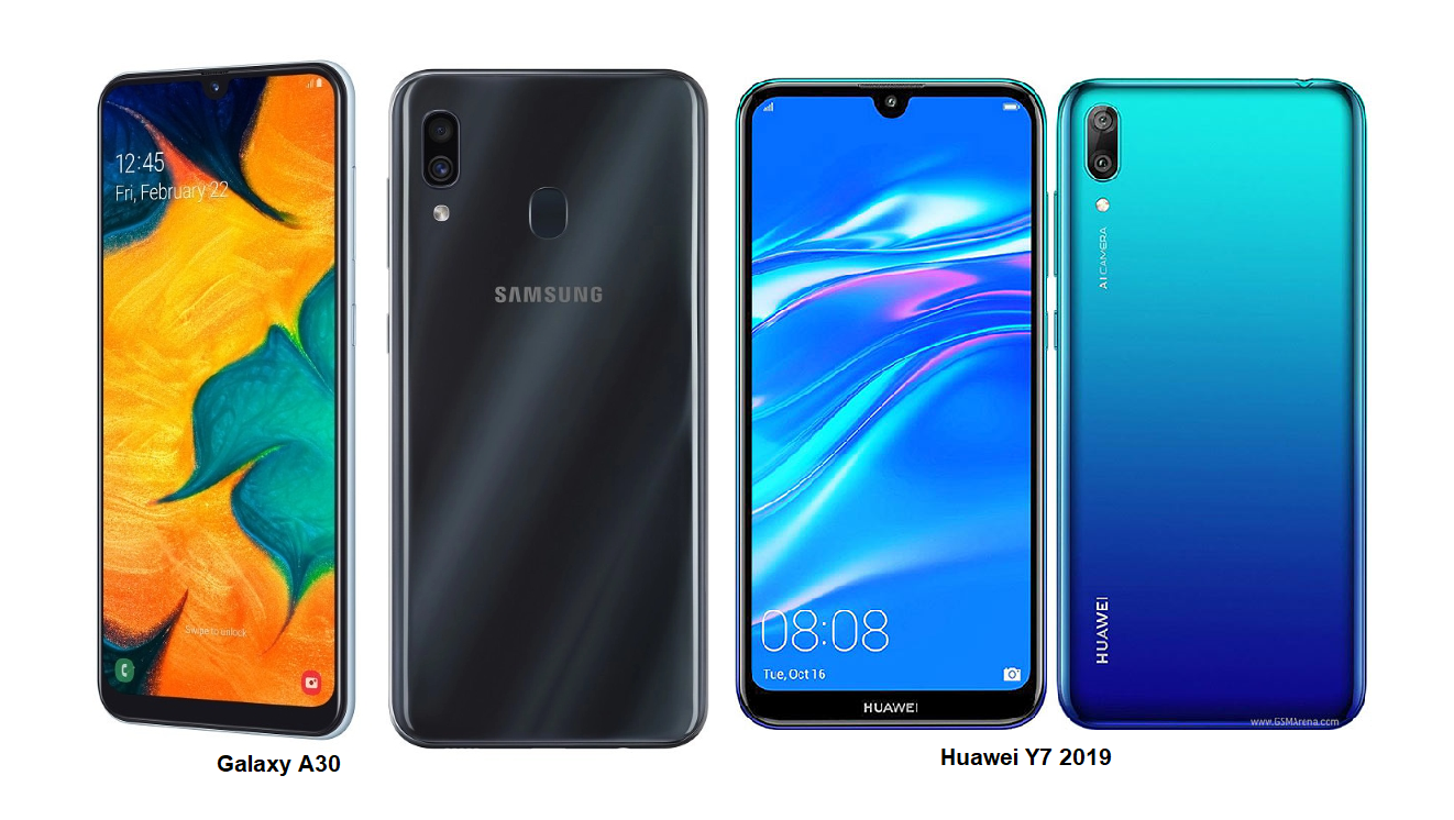 huawei vs samsung battery huawei y7 2019 vs samsung galaxy a30 specs comparisons