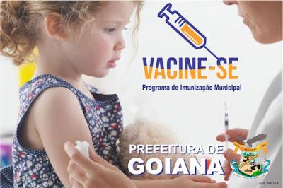 Dia D: Campanha de Vacinação sábado 16/09 em Goiana