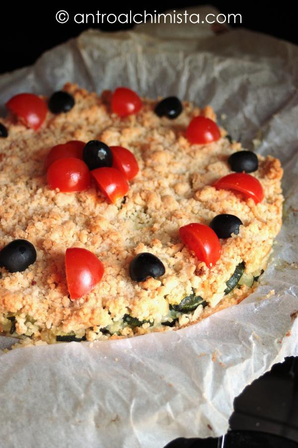 Sbriciolata di Zucchine al Basilico e Mozzarella
