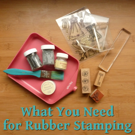 Starting rubber stamping supplies for beginners paper craft
