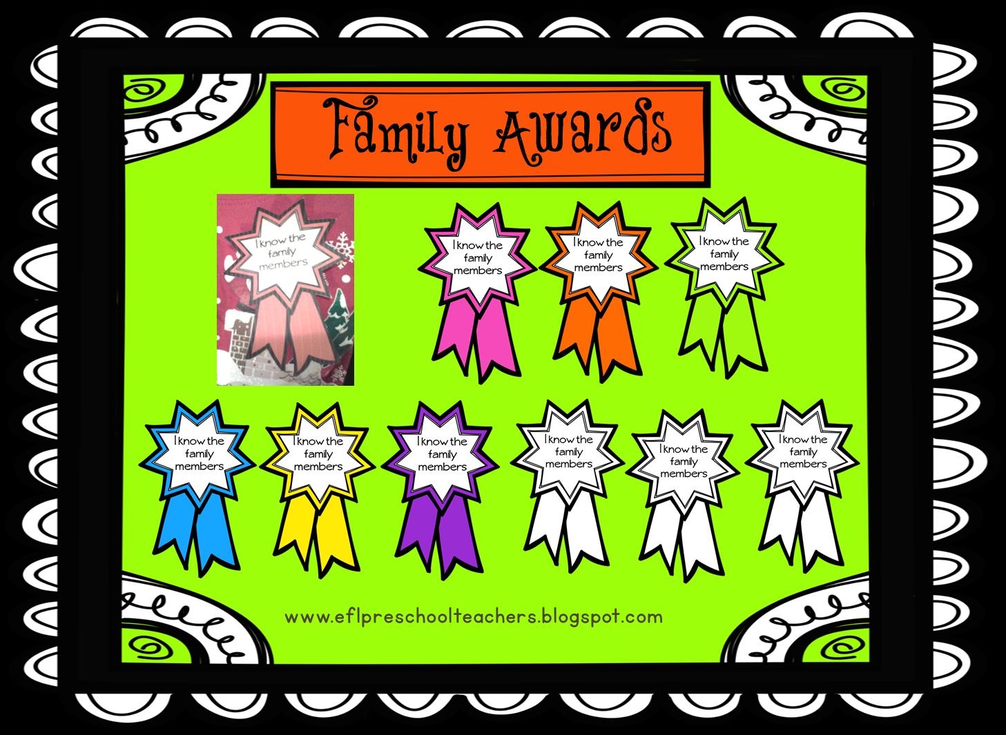 Esl Efl Preschool Teachers Family Theme For Ell