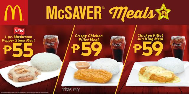 McDonald's, McSaver Meals