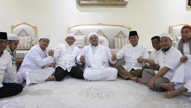 Akhirnya! Prabowo-Amien Rais Bertemu Habib Rizieq di Mekah