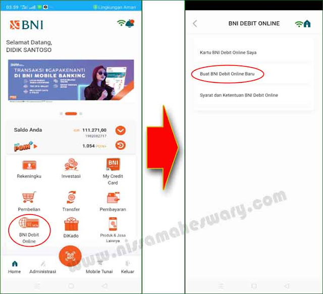 cara bayar kartu kredit lewat mobile banking bni