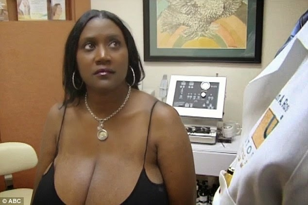Women with big natural breast