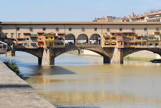 The Ponte Vecchio linked the Uffizi with the Palazzo Pitti