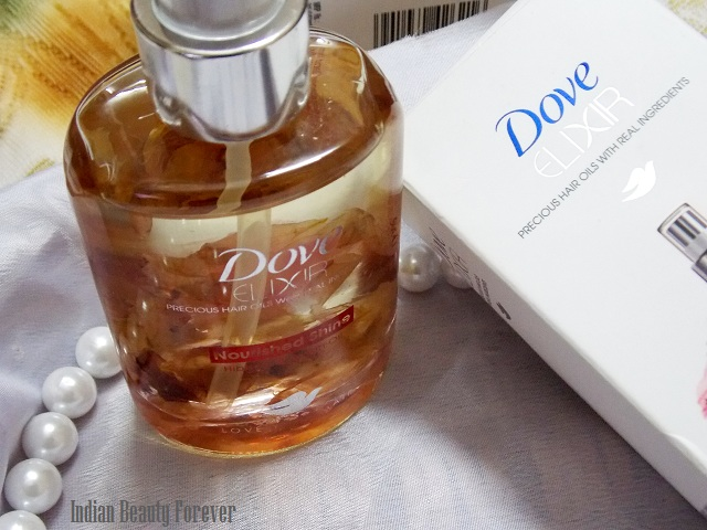 Dove Elixir hair Oils argan oil and hibiscus