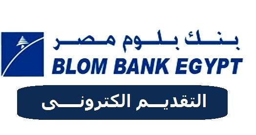 اعلان وظائف بنك بلوم للشباب الخريجين من الجنسين من كافة الكليات برواتب تصل 4500 جنيه - التقديم على الانترنت