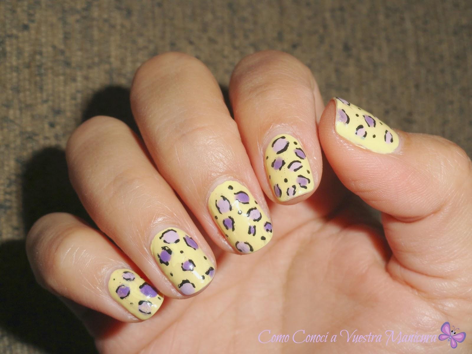 Como Conocí A Vuestra Manicura Uñas Decoradas De Leopardo Amarillo