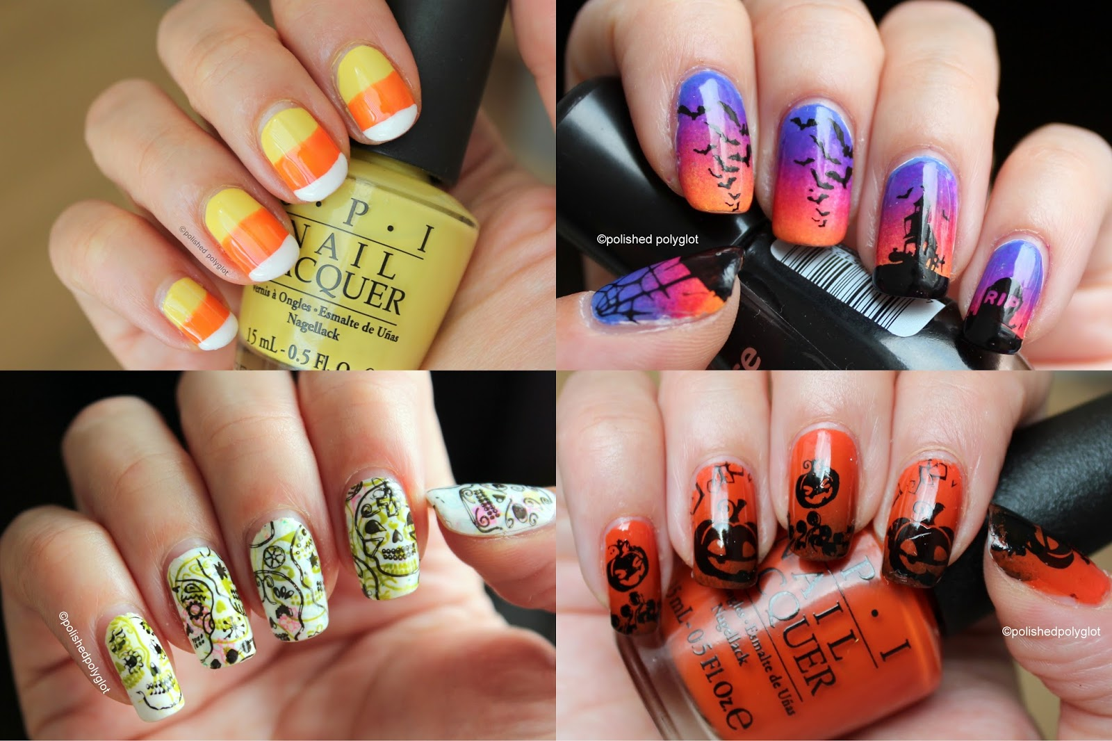 Nail Art │ 10 nail art ideas for Halloween. From beginner to ...