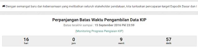 gambar Batas Waktu Pengambilan Data KIP Dapodik 2016 Diperpanjang Hingga Tanggal 15 September 2016