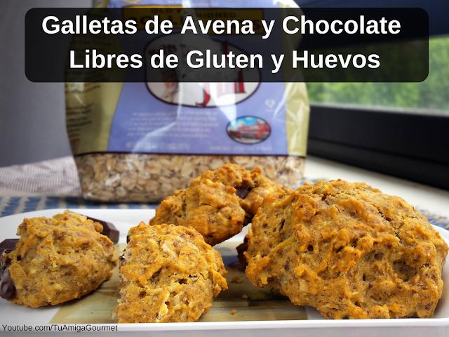 Como preparar Galletas de Avena y Chocolate sin Gluten