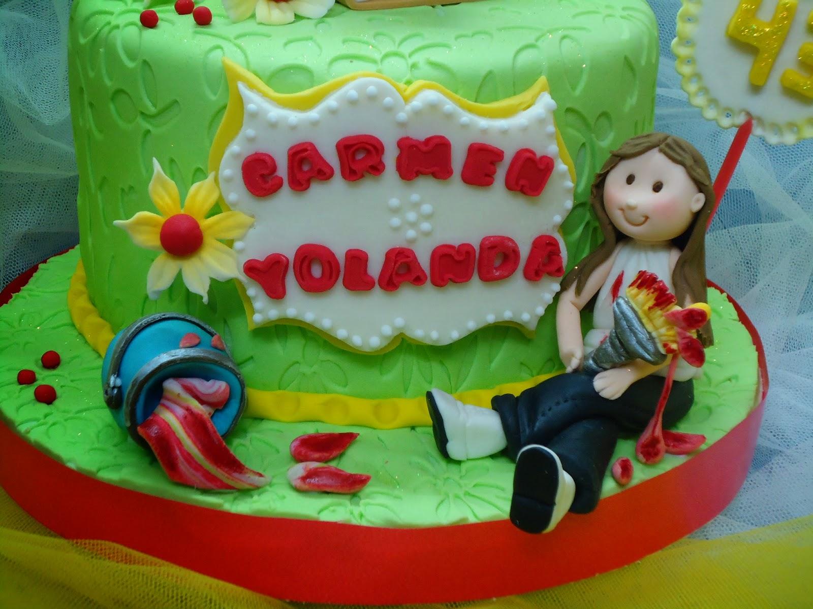 Pasteles Isabella Tarta Para Carmen Y Yolanda