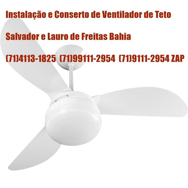Instalação de Ventilador de Teto Spirit em Salvador-BA (71) 99111-2954