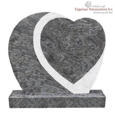 grafsteen hart, grafsteen hart geprikt