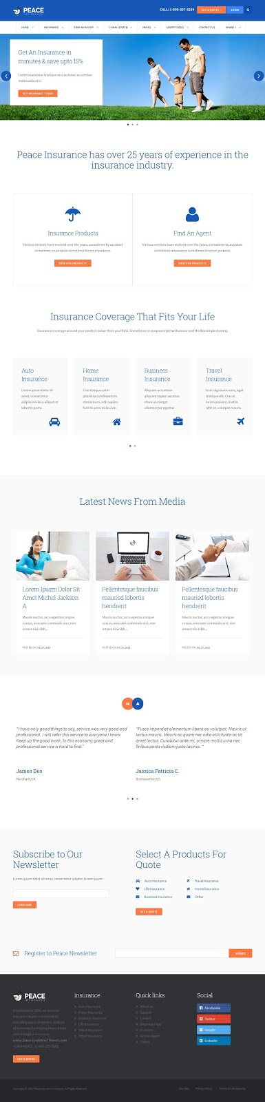 Best Insurance Agency WordPress Theme