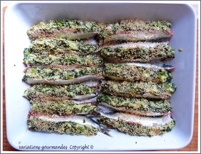 Variations gourmandes les sardines farcies la ni oise - Cuisiner des filets de sardines fraiches ...