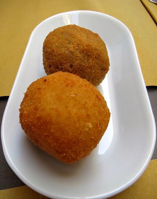 Sicilian Food - Arancini balls in Siracusa