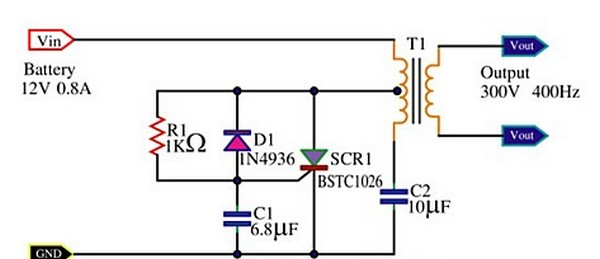 circuit schematic scr mini power inverter using bstc1026 rh electronicindex blogspot com 3000W Inverter Wiring Diagram Inverter Schematic Diagram