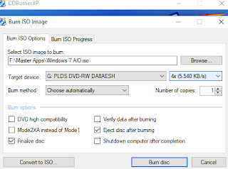 Cara burning DVD untuk membuat bootable windows 7