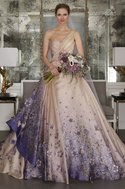 K'Mich Weddings - wedding dress - print/floral