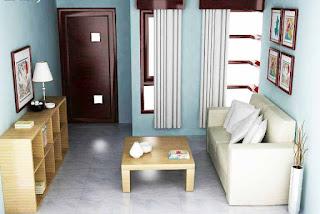 Desain interior rumah minimalis tipe 36 ruang depan