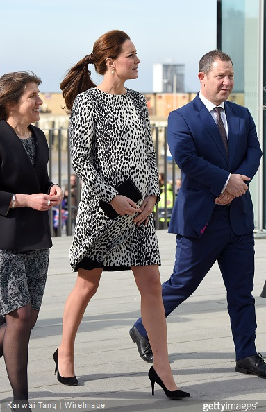 Catherine, Duchess of Cambridge visits the Turner Contempary on March 11, 2015 in Margate, England.